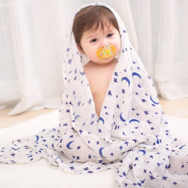 starry night watercolor swaddle blankets muslin