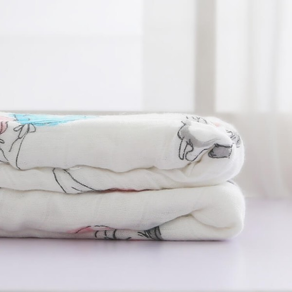 Rabbit And Balloon Muslin Blankets For Babies