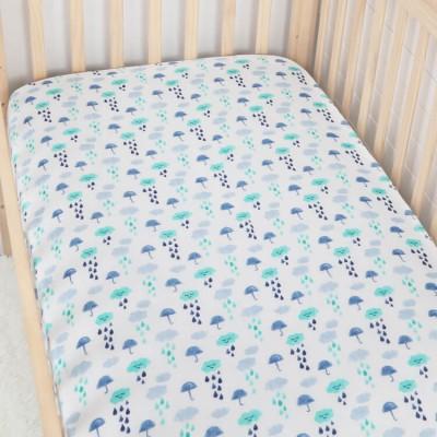 Organic Cotton Muslin Crib Sheet For Baby