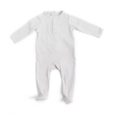 light gray or custom design baby romper long sleeve