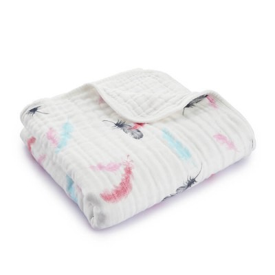 Feather Large Muslin Blankets