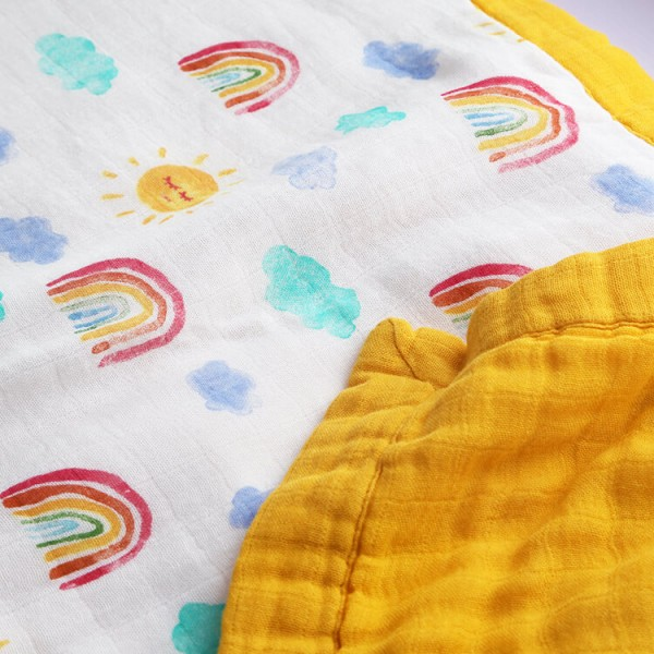 Rainbow Adult Muslin Blanket