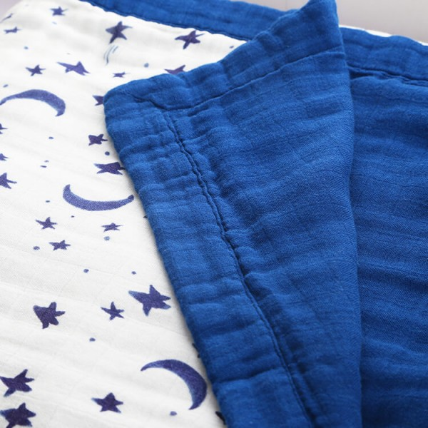 Starry Night King Size Muslin Blanket
