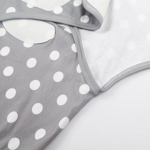 gray and white dot full print original swaddle wrap