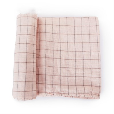 Grid design muslin wraps