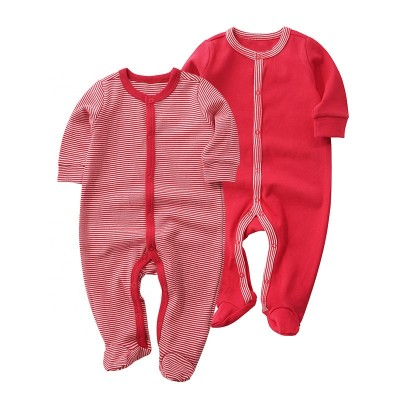 Snap baby pajamas baby rompers