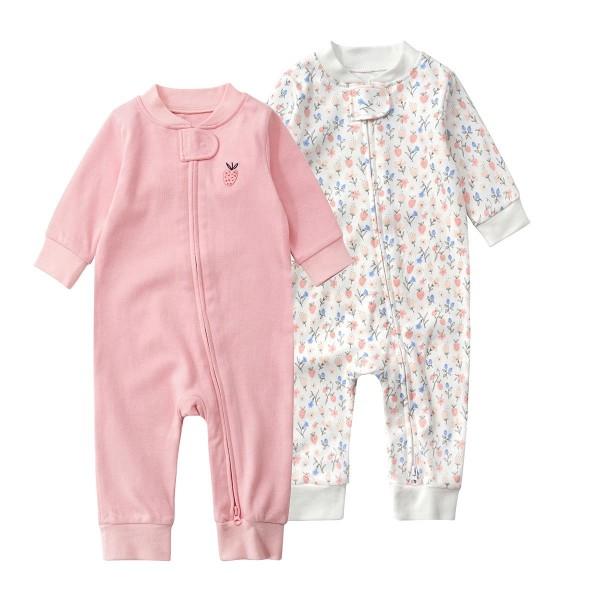 Zipper baby pajamas baby rompers