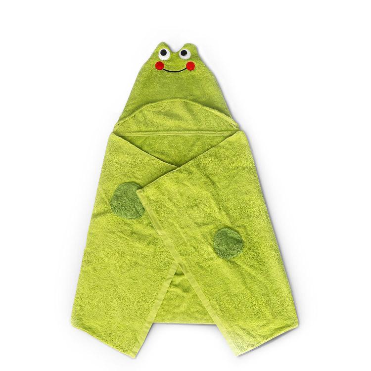 frog reactive print bath robe - frog reactive print bath robe