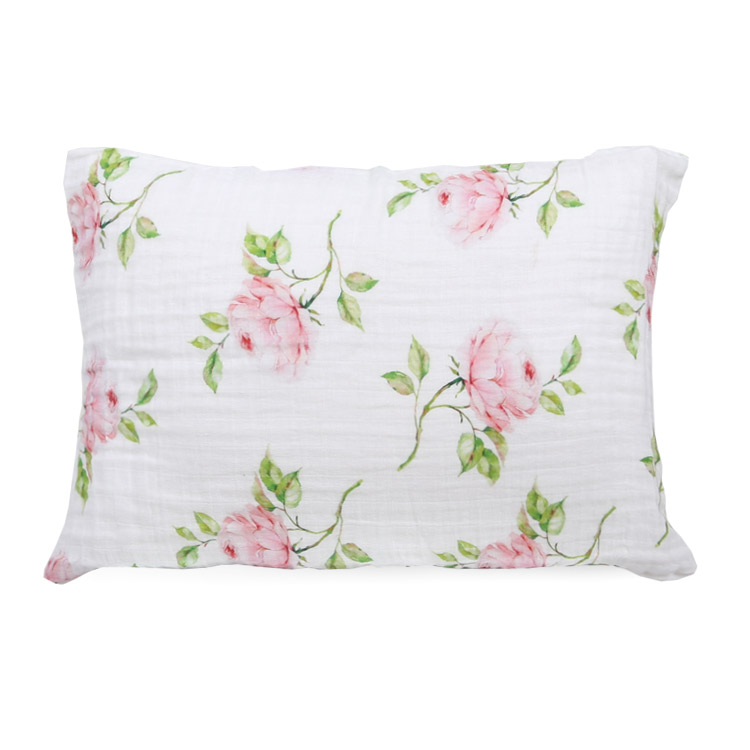 pigment print rose bamboo twill toddler pillowcase - pigment print rose bamboo twill toddler pillowcase