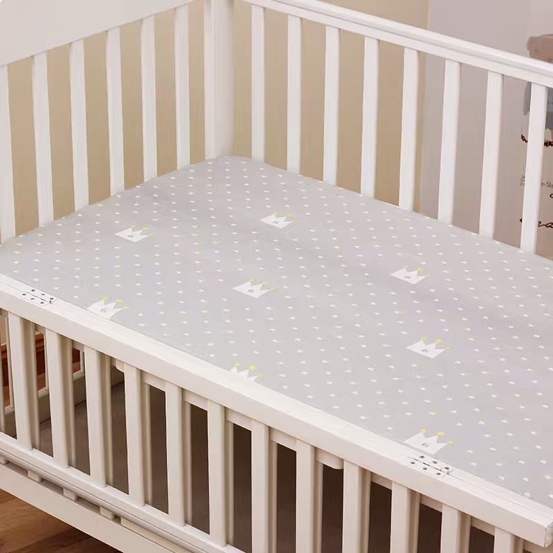 13306281722 653970100 - Reactive Print Cotton Muslin Baby Fitted Crib Sheet