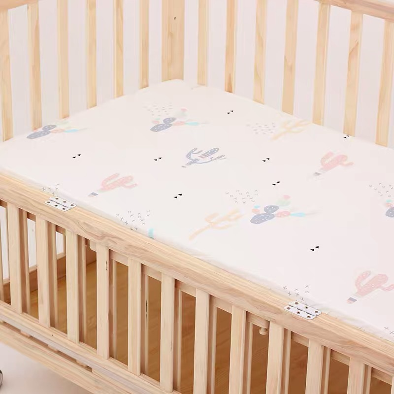 13306287620 653970100 - Reactive Print Cotton Muslin Baby Fitted Crib Sheet