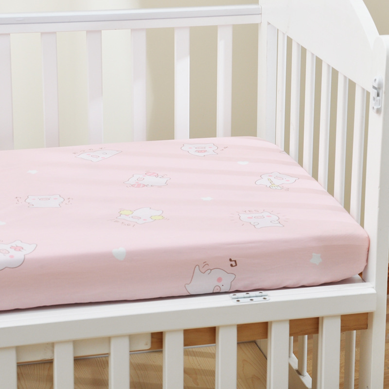 13306296294 653970100 - Reactive Print Cotton Muslin Baby Fitted Crib Sheet