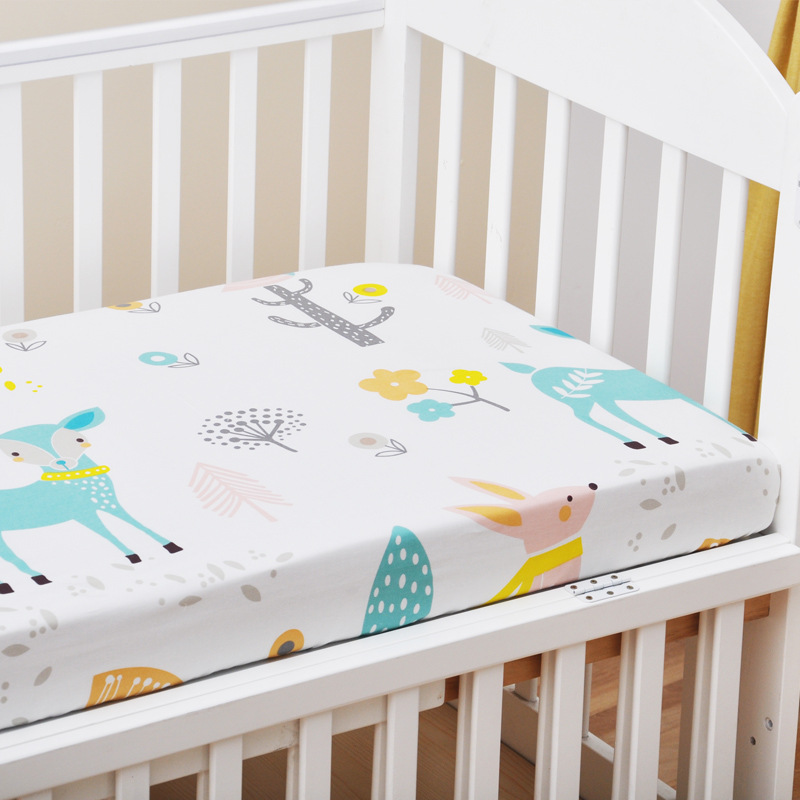 13306302549 653970100 - Reactive Print Cotton Muslin Baby Fitted Crib Sheet