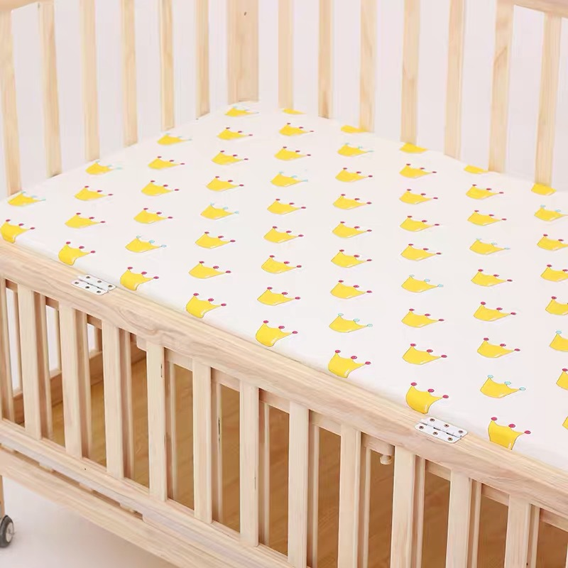 13344535907 653970100 - Reactive Print Cotton Muslin Baby Fitted Crib Sheet