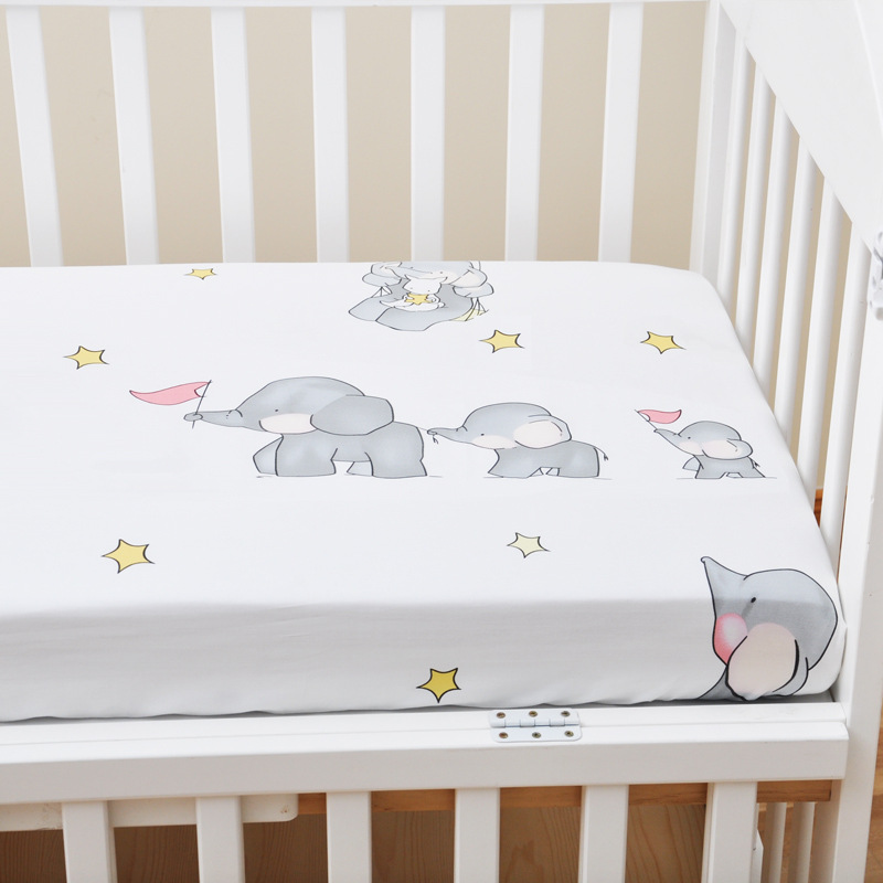 13344544515 653970100 - Reactive Print Cotton Muslin Baby Fitted Crib Sheet