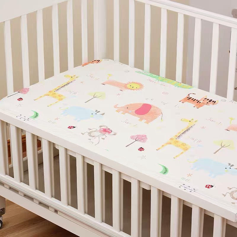 13344553796 653970100 - Reactive Print Cotton Muslin Baby Fitted Crib Sheet