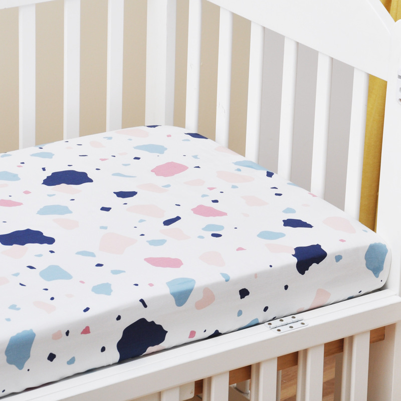 13389368461 653970100 - Reactive Print Cotton Muslin Baby Fitted Crib Sheet