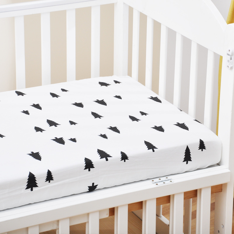 17339961654 653970100 - Reactive Print Cotton Muslin Baby Fitted Crib Sheet