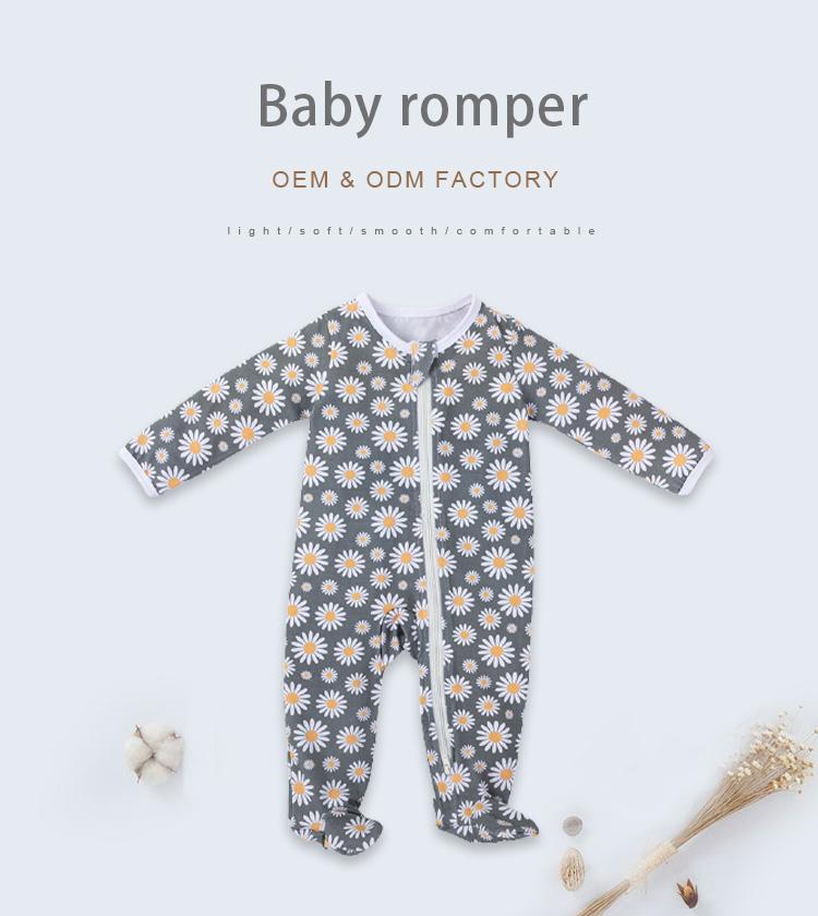 1 - Baby pajamas footie snap baby pajamas baby rompers
